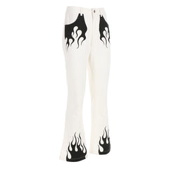 Shop Flamin' Flared Trousers at Boogzel Apparel