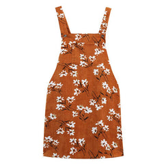 Floral Dungaree Dress