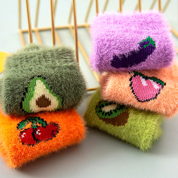 Fruit Fuzzy Socks