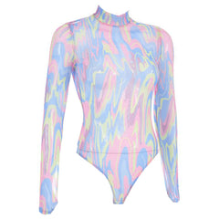 Shop Gasoline Rainbow Bodysuit at Boogzel Apparel