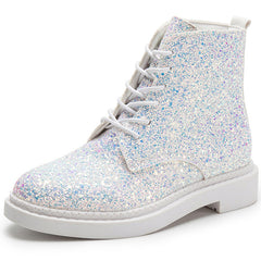 Glitter Ankle Boots at Boogzel Apparel