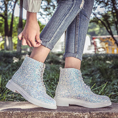 Shop Glitter Ankle Boots at Boogzel Apparel