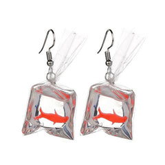 Goldfish Aesthetic Earrings boogzel apparel