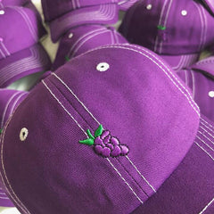 embroidery Grape Baseball Cap boogzel appparel