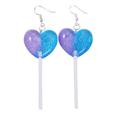 Heart Lollipop candy Earrings