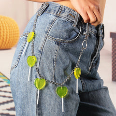 green pant chain boogzel apparel