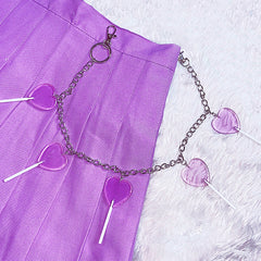 purple pant chain boogzel apparel