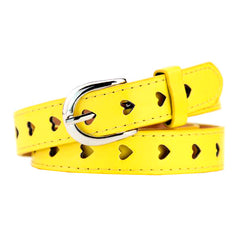 yellow Heart Cutout Belt