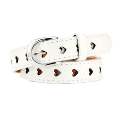 white Heart Cutout Belt