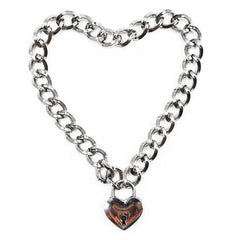 Heart Lock Necklace at Boogzel Apparel