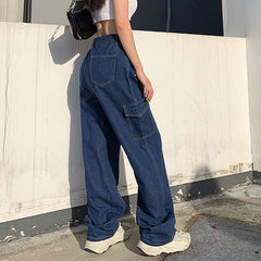 denim cargo pants boogzel apparel