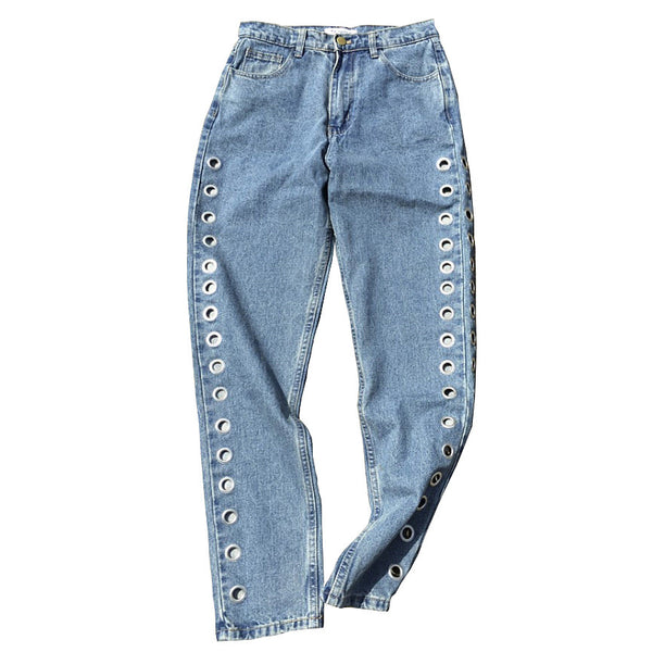 Holed Up Grommet Jeans