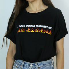 i Love Doing Homework T-shirt boogzel apparel