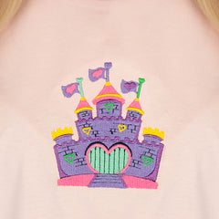 Castle embroidery T-Shirt boogzel
