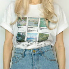 Monet art paiting T-Shirt
