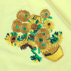 van gogh sunflowers embroidery
