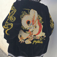 Japan Dragon Bomber Jacket boogzel apparel