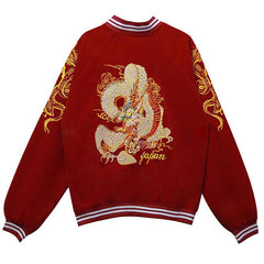 Japanese Dragon Bomber Jacket boogzel apparel
