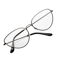 cat eyes cleat lens glasses