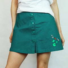 Koi Fish Embroidered Skirt