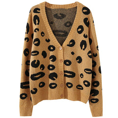 Lola Leopard Cardigan at Boogzel Apparel