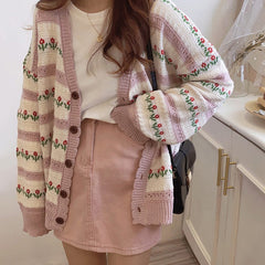 In The Garden Floral Cardigan