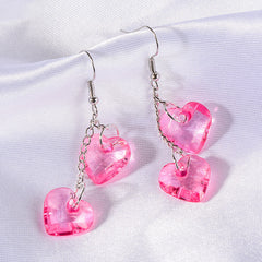 Buy Love On Top Heart Earrings at Boogzel Apparel Free Shipping Sale Up To 50% Pink Hearts