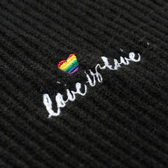 lgbt clothes Love is Love High Neck Jumper