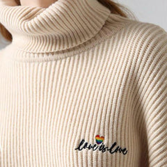 gay clothes Love is Love High Neck Jumper