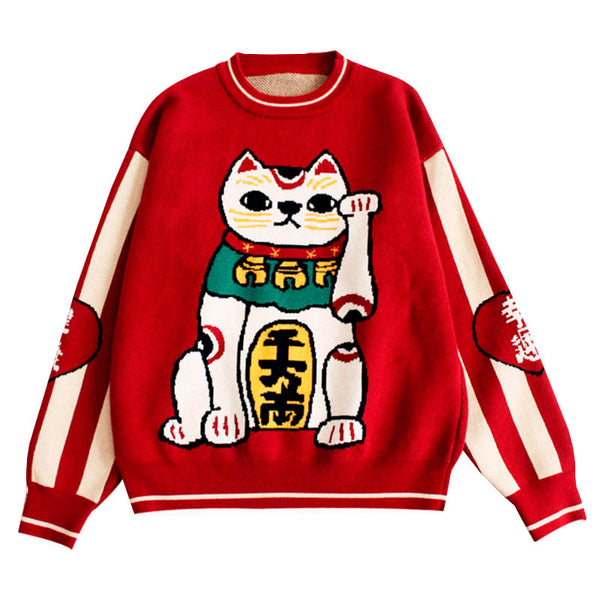 Maneki Neko Sweater