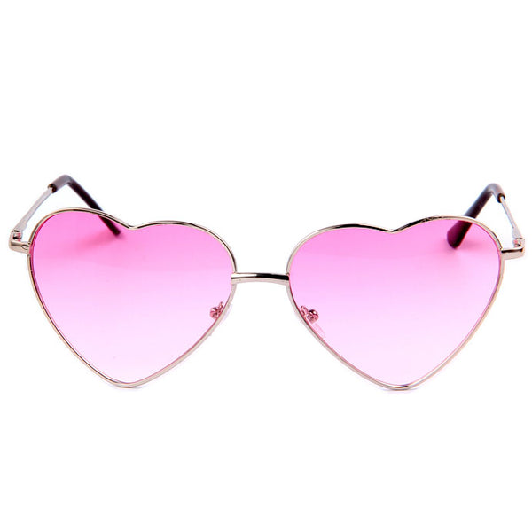 Metal Frame Heart Shape Sunglasses