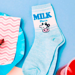 Shop Milky Cow Socks at Boogzel Apparel Free SHipping