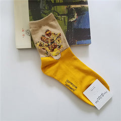 van gogh sunflowers socks