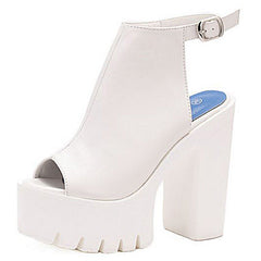 white Heeled Sandals boogzel apparel