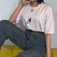 Nollie Embroidered Tee