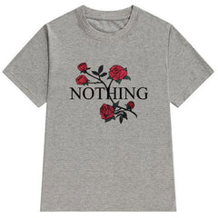 Nothing T-Shirt rose grey boogzel apparel