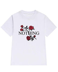 Nothing rose T-Shirt white boogzel apparel