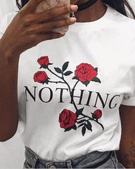 Nothing T-Shirt white boogzel apparel
