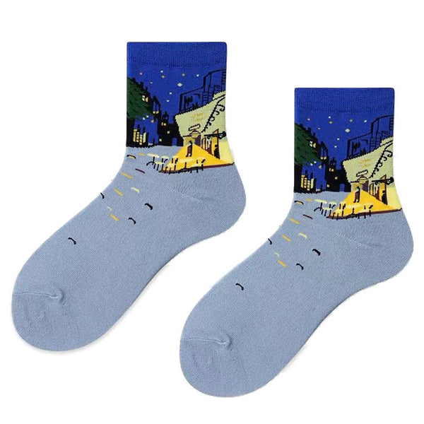 The Night Café Van Gogh Socks