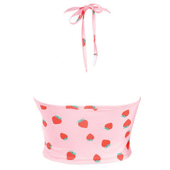 Strawberry Fields Halter Top
