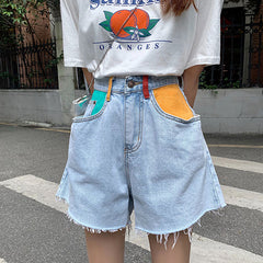 Artsy Denim Shorts