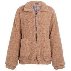 Oversized Teddy Coat at Boogzel Apparel