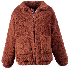 Buy Shop Oversized Teddy Coat at Boogzel Apparel Free Shipping