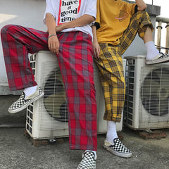 90s red plaid pants boogzel apparel