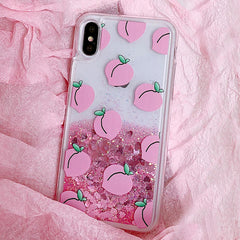 Buy Peach Liquid IPhone Case at Boogzel Apparel Free Shipping