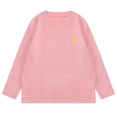 Buy Phase of day Cloud White Sweater At Boogzel Apparel Free Shipping Sales Up To   50% Worldwide Light Pink