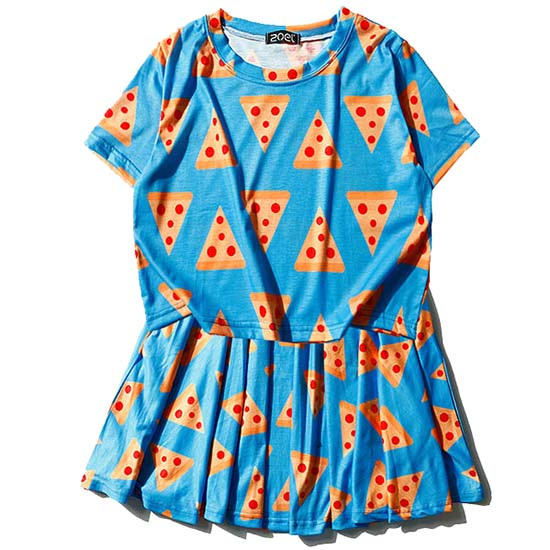 Pizza Queen Tee+Skirt Set