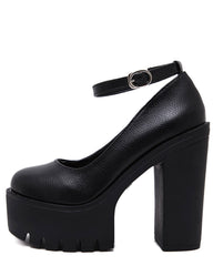 Platform Heeled Sandals black boogzel apparel
