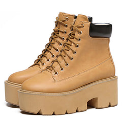 Platform Work Boots brown boogzel apparel