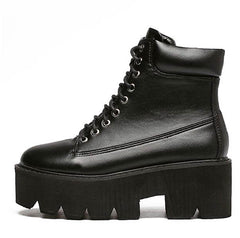 Platform Work Boots black boogzel apparel